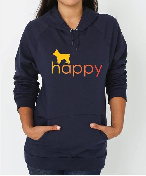 Righteous Hound - Unisex Happy Yorkie Hoodie