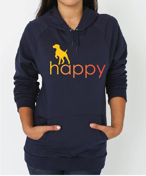 Righteous Hound - Unisex Happy German Shorthaired Pointer Hoodie