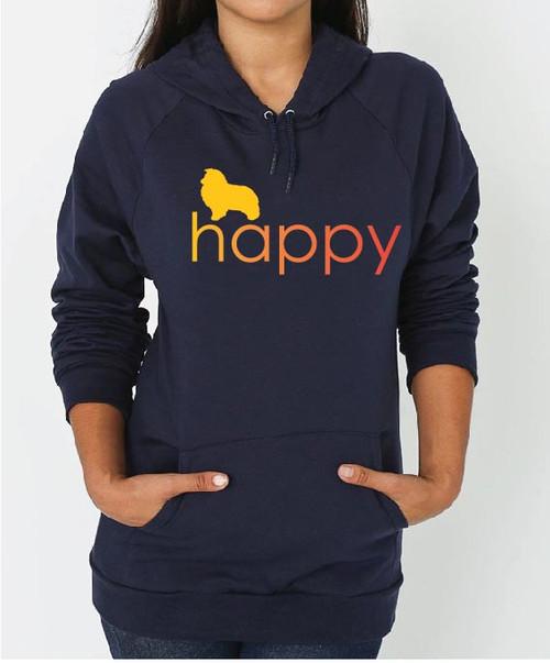 Righteous Hound - Unisex Happy Shetland Sheepdog Hoodie