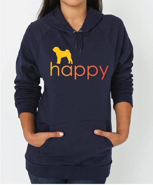 Righteous Hound - Unisex Happy Shar-Pei Hoodie