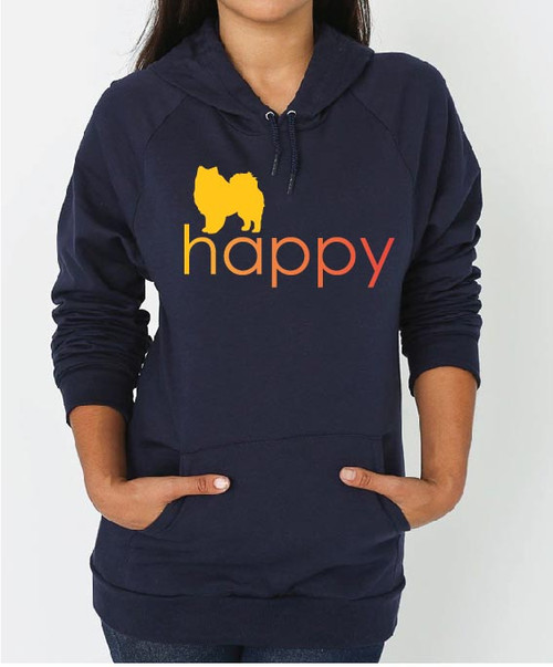 Righteous Hound - Unisex Happy American Eskimo Dog Hoodie