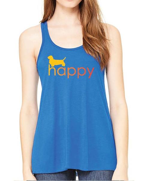 Righteous Hound - Flowy Happy Basset Hound Tank