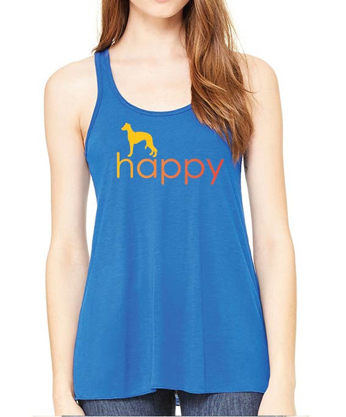 Righteous Hound - Flowy Happy Whippet Tank