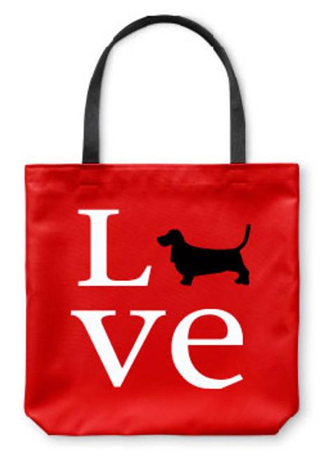 Righteous Hound - Love Basset Hound Tote Bag