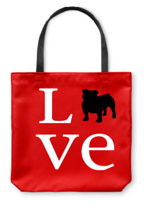 Righteous Hound - Love Bulldog Tote Bag