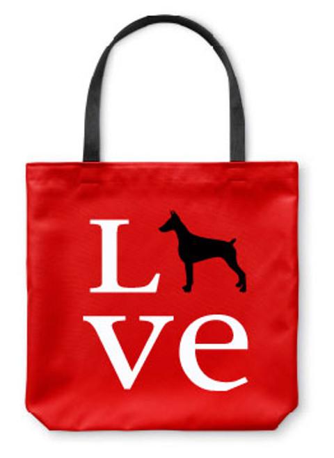 Righteous Hound - Love Doberman Tote Bag