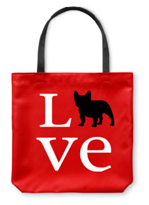 Righteous Hound - Love French Bulldog Tote Bag