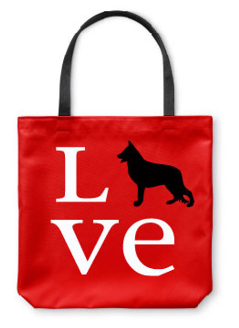 Righteous Hound - Love German Shepherd Tote Bag