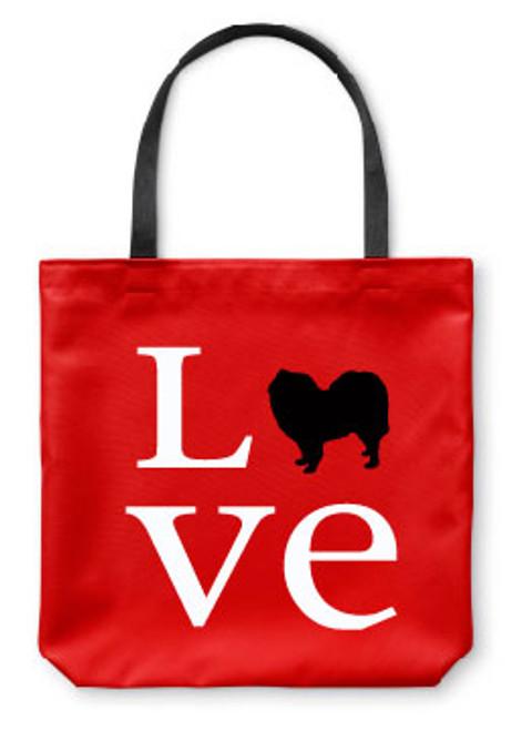 Righteous Hound - Love Samoyed Tote Bag