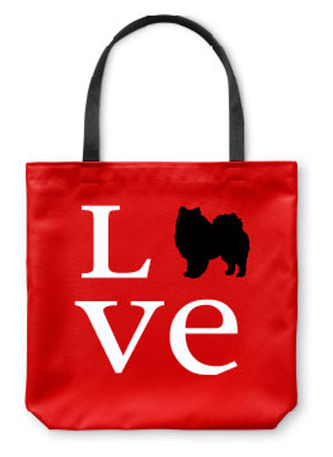 Righteous Hound - Love American Eskimo Dog Tote Bag