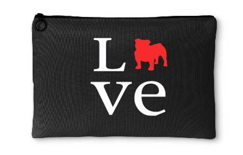 Bulldog Love Accessory Pouch