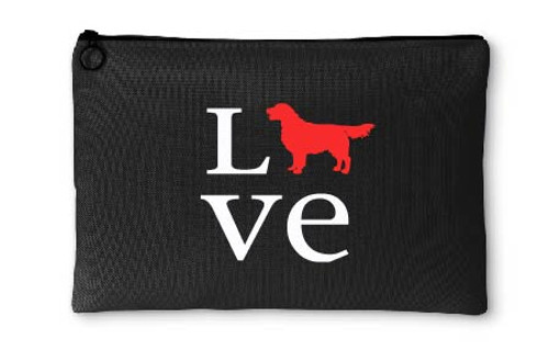 Golden Retriever Love Accessory Pouch