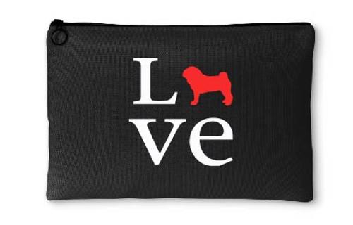 Pug Love Accessory Pouch