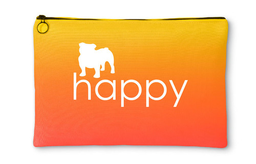 Righteous Hound - Happy Bulldog Accessory Pouch