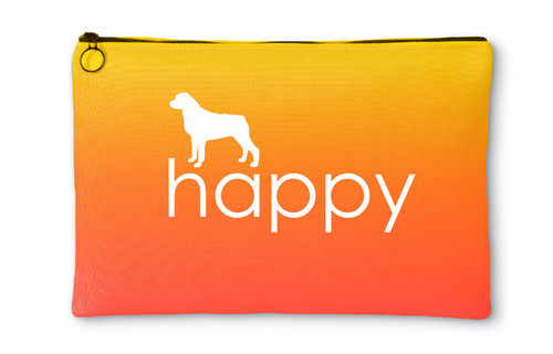 Righteous Hound - Happy Rottweiler Accessory Pouch