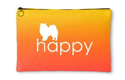Righteous Hound - Happy American Eskimo Dog Accessory Pouch