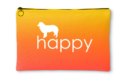 Righteous Hound - Happy Border Collie Accessory Pouch