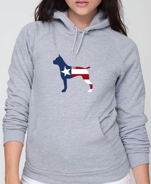 Righteous Hound - Unisex Patriot Boxer Hoodie