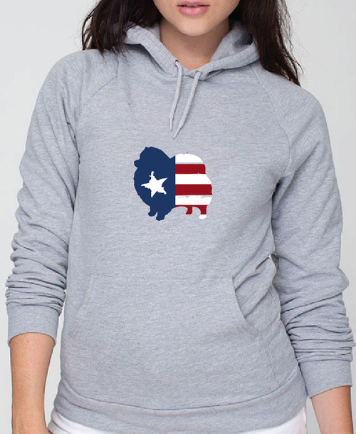 Righteous Hound - Unisex Patriot Pomeranian Hoodie