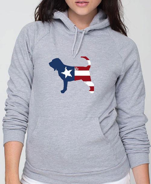 Righteous Hound - Unisex Patriot Bloodhound Hoodie
