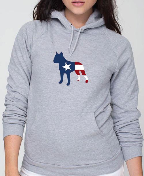 Righteous Hound - Unisex Patriot Staffordshire Terrier Hoodie