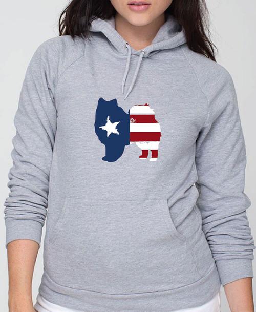 Righteous Hound - Unisex Patriot American Eskimo Dog Hoodie