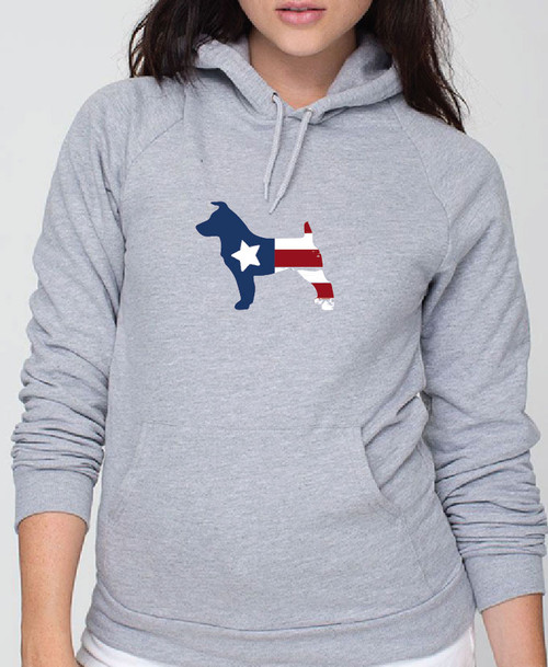 Righteous Hound - Unisex Patriot Jack Russell Hoodie