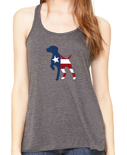 Righteous Hound - Flowy Patriot German Shorthaired Pointer Tank