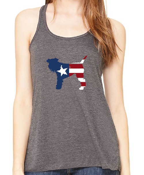Righteous Hound - Flowy Patriot Schnauzer Tank