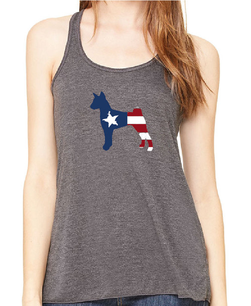 Righteous Hound - Flowy Patriot Basenji Tank