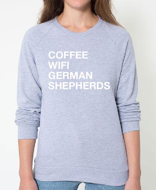 German Shepherd Coffee Wifi Sweatshirt