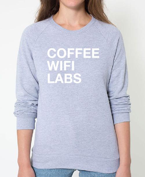 Labrador Retriever Coffee Wifi Sweatshirt