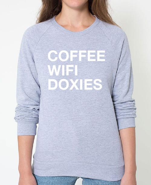 Dachshund Coffee Wifi Sweatshirt