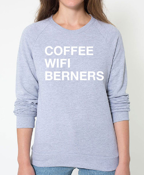 Bernese Mountain Dog Coffee Wifi Sweatshirt