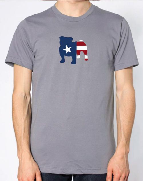 Righteous Hound - Men's Patriot Bulldog T-Shirt