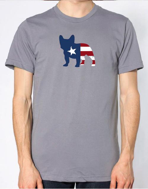 Righteous Hound - Men's Patriot French Bulldog T-Shirt