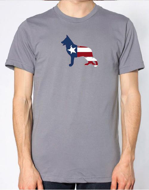 Righteous Hound - Men's Patriot German Shepherd T-Shirt