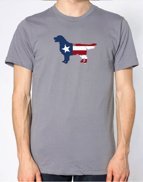 Righteous Hound - Men's Patriot Golden Retriever T-Shirt