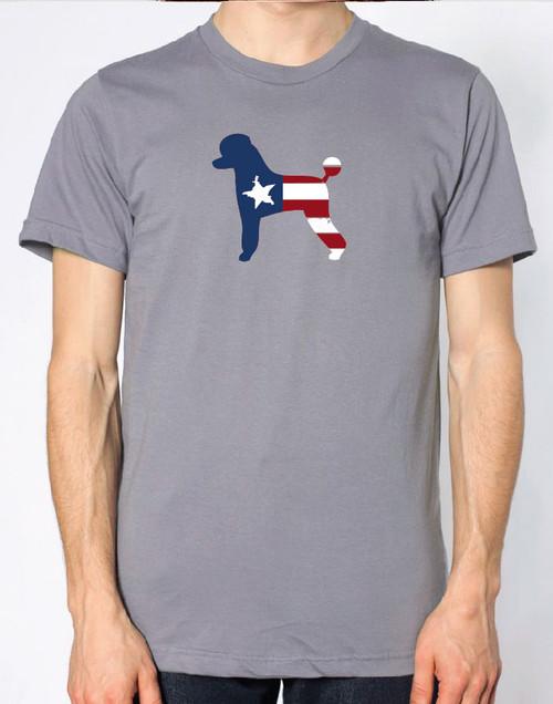 Righteous Hound - Men's Patriot Poodle T-Shirt