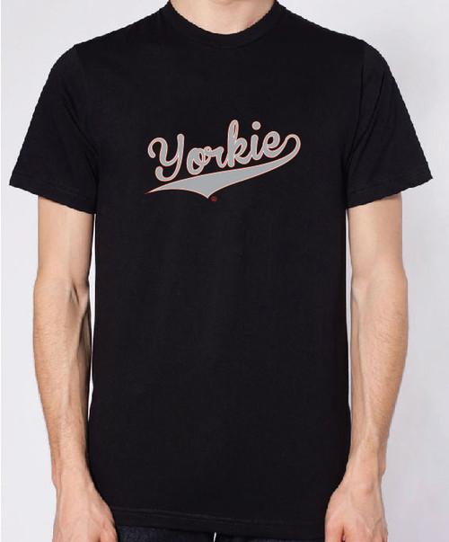 Righteous Hound - Unisex Varsity Yorkie T-Shirt