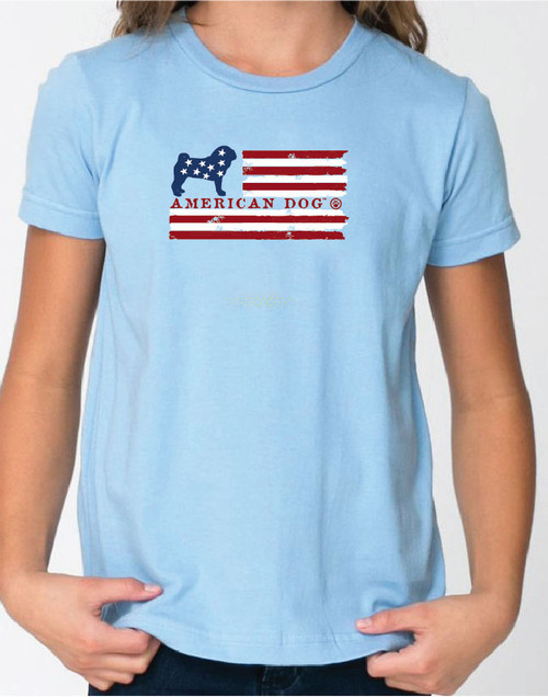 Righteous Hound - Kid's Flag Pug Tee