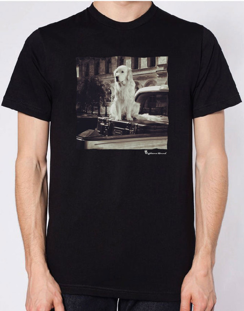 Righteous Hound - Men's Varsity Golden Retriever T-Shirt