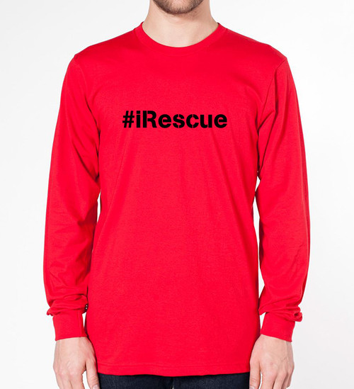 Mens/Unisex iRescue Long Sleeve Tee
