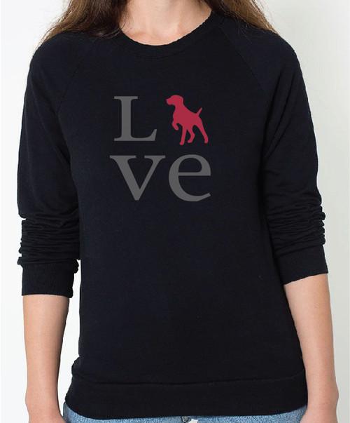 Unisex Love German Shorthaired Pointer Sweatshirt