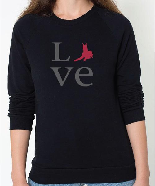 Unisex Love Great Dane Sweatshirt