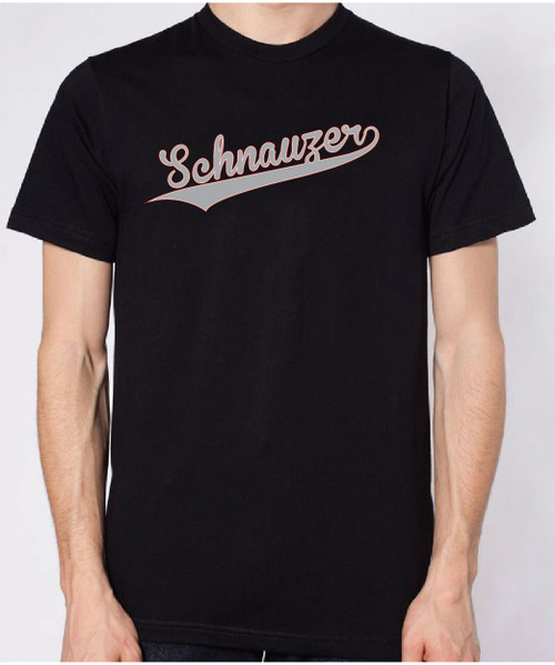 Righteous Hound - Unisex Varsity Schnauzer T-Shirt