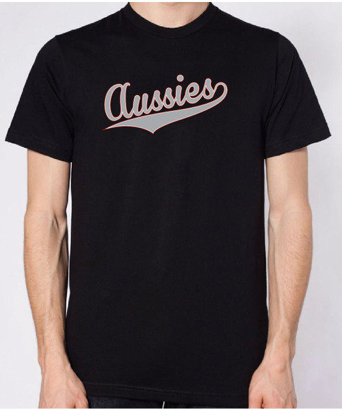Righteous Hound - Unisex Varsity Australian Shepherd T-Shirt