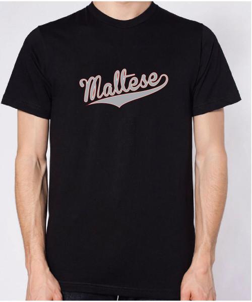 Righteous Hound - Unisex Varsity Maltese T-Shirt