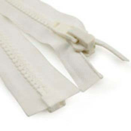Image for #10 Marine Zipper White 120 At Fabric Warehouse
