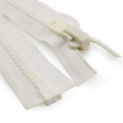 Image for #10 Marine Zipper White 60 At Fabric Warehouse